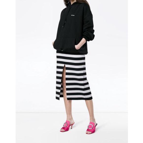 f26a7e3b9 Proenza Schouler Skirts | Striped Knit Midi Skirt Nwt L | Poshmark